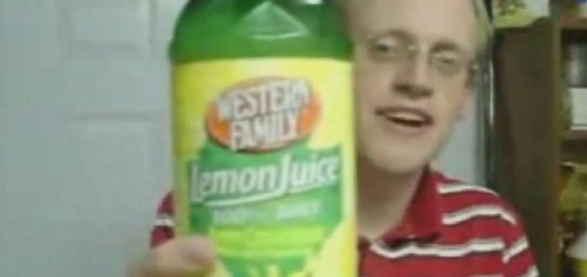 Taking shots of lemon juice on NYE