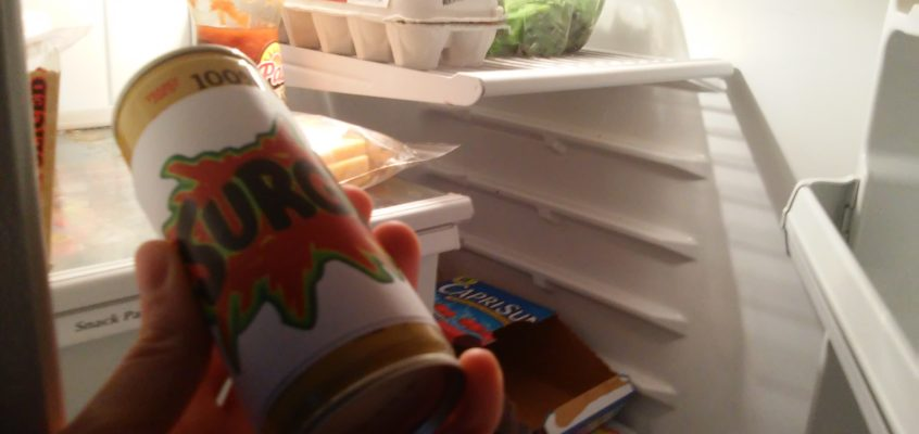 Radio Citrus #9: A delicious, unlicensed can of Surge soda