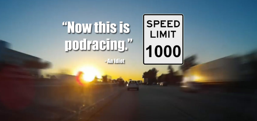 Driving across LA at 1000 miles per hour
